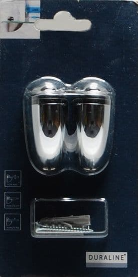 Duraline Select Mini Clip Chrome - 20 x 6 x 3